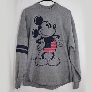 Mickey Mouse Pull Over Disney Retro Spell Out S